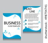 vector brochure flyer design... | Shutterstock .eps vector #498754741