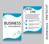 vector brochure flyer design... | Shutterstock .eps vector #498754747