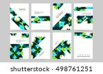 geometric background template... | Shutterstock .eps vector #498761251