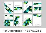 geometric background template... | Shutterstock .eps vector #498761251