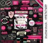 black friday sale badges on a... | Shutterstock .eps vector #498767689
