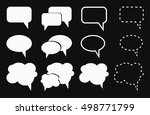 speech bubble icons | Shutterstock .eps vector #498771799