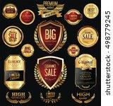 premium and luxury golden retro ... | Shutterstock .eps vector #498779245