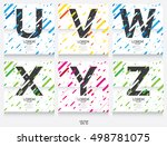 label template. color alphabet... | Shutterstock .eps vector #498781075