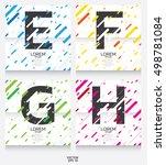 label template. color alphabet...   Shutterstock .eps vector #498781084
