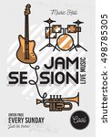 jam session minimalistic cool... | Shutterstock .eps vector #498785305