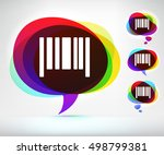Barcode On Colorful Speech...