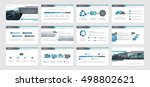set of blue  gray infographic... | Shutterstock .eps vector #498802621