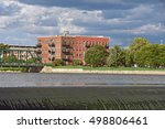 old brick apartment building on ...   Shutterstock . vector #498806461