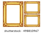 it is three antique gold wooden ... | Shutterstock . vector #498810967