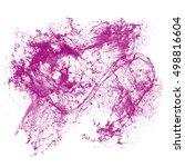 splash of ink isolated on white ...   Shutterstock . vector #498816604