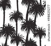 seamless pattern with palm...   Shutterstock .eps vector #498825277