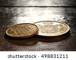Danish Gold Coins On Rustic...