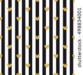 gold heart seamless glitter... | Shutterstock .eps vector #498834001