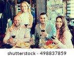 positive young people enjoying... | Shutterstock . vector #498837859