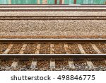 railroad station  railroad... | Shutterstock . vector #498846775