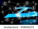 modern social media. concept of ... | Shutterstock . vector #498848191