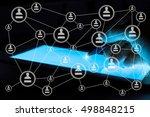 modern social media. concept of ... | Shutterstock . vector #498848215