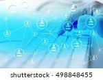 modern social media. concept of ...   Shutterstock . vector #498848455