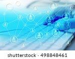 modern social media. concept of ... | Shutterstock . vector #498848461