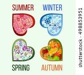 season icons. four seasons of... | Shutterstock .eps vector #498853951