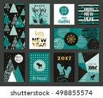 set of artistic creative merry... | Shutterstock .eps vector #498855574
