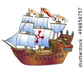 Spanish Cartoon Ship With...