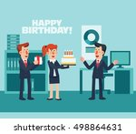 business people celebrating a... | Shutterstock .eps vector #498864631