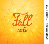 fall sale background. autumn... | Shutterstock .eps vector #498864745