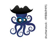beautiful tropical octopus... | Shutterstock .eps vector #498869491