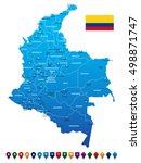 colombia map vector illustration   Shutterstock .eps vector #498871747