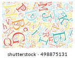 creative english alphabet... | Shutterstock . vector #498875131