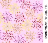 Seamless Colored Pattern  Pink...