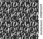 alphabet seamless background... | Shutterstock .eps vector #498893659