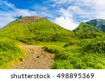 soufriere volcano is the... | Shutterstock . vector #498895369