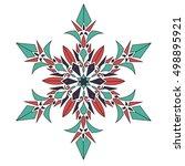 mandala. vintage decorative... | Shutterstock .eps vector #498895921