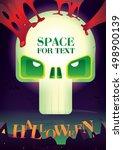 poster for halloween.halloween...   Shutterstock .eps vector #498900139