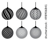 black white set of decorative... | Shutterstock .eps vector #498906841
