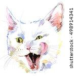 Watercolor Cat Illustration....