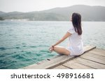 yoga and meditation concept... | Shutterstock . vector #498916681
