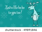 a funny christmass greeting... | Shutterstock .eps vector #49891846