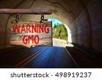 warning gmo motivational phrase ...   Shutterstock . vector #498919237