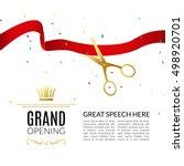 grand opening design template... | Shutterstock . vector #498920701