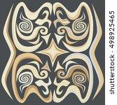 decorative ornament.... | Shutterstock . vector #498925465