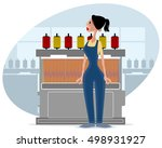 vector illustration of a weaver ... | Shutterstock .eps vector #498931927