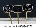 Keep Calm And Go Vegan Message...