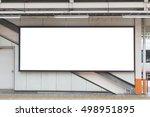 large blank billboard on a...   Shutterstock . vector #498951895