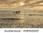 golden hour moment beautiful... | Shutterstock . vector #498965005