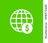 global dollar icon | Shutterstock .eps vector #498972685