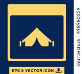 camping calendar page icon.... | Shutterstock .eps vector #498980359
